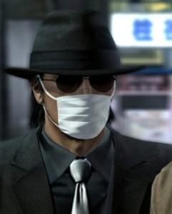 スーツ・マスク・サングラス・帽子