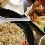 8番らーめん鯖江東店でチャーハンと餃子